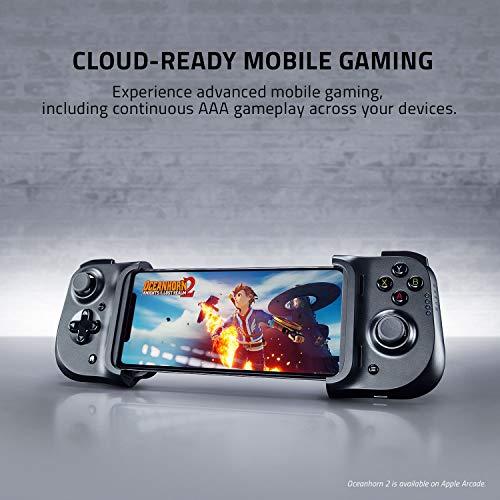 Razer Kishi für iOS (iPhone) - Smartphone Gaming Controller (USB-C Anschluss, Ergonomisches Design, Individuelle Passform, Analog-Stick, Ultra niedrige Latenz) Schwarz