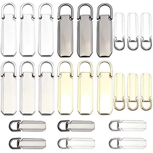 TXErfolg 24 Uds., Lengüetas para tirar de cremallera recambio fijador de cremallera etiquetas de cremallera lengüeta de reparación para ropa maleta mochila equipaje