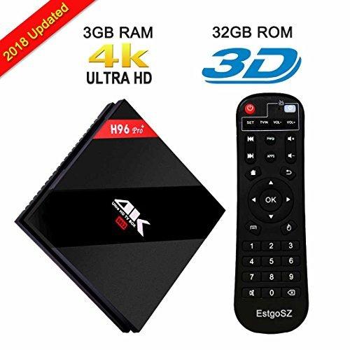 EstgoSZ H96 Max Android 10.0 TV Box 4GB RAM 32GB ROM Dual-Band WiFi...