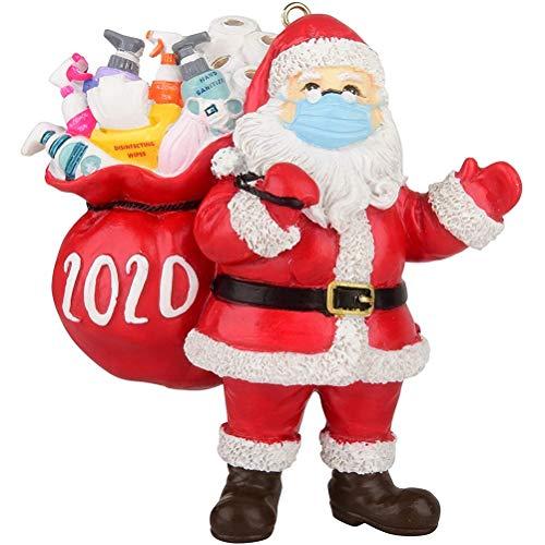Weihnachtsschmuck, Creative 2020 Weihnachtsmann mit Maske Weihnachtsbaumschmuck, Dekorativer Weihnachtsmann mit Maske Weihnachtsbaum Anhänger, Weihnachtsbaum hängen Ornamente, Dekoration für zu Hause