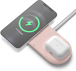 elago MS Charging Hub Duo Compatible with MagSafe Charger – 2 in 1 Wireless Charging Station Compatible with iPhone 12, Pr...