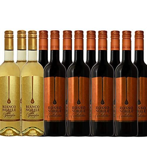 Bianco (3) et Rosso (9) Noblile alla Vaniglia et Cioccololata (12x0,75l))