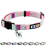 Pawtitas Collar de Gato Multicolor con Hebilla de Seguridad Collar de Gato...