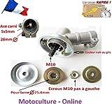 Motoculture-Online Renvoi de débroussailleuse 26mm Axe Femelle carré 5 mm X 5 mm (tête Support Lame ou rotofil)