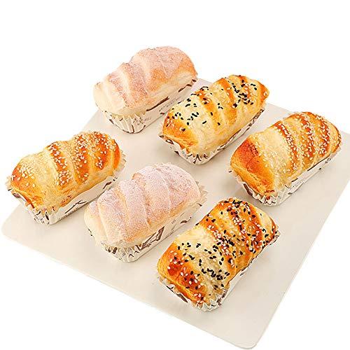 Cozyhoma 6 piezas de pastel de simulación, artificial realista pan postre alimento para decoración del hogar o la cocina