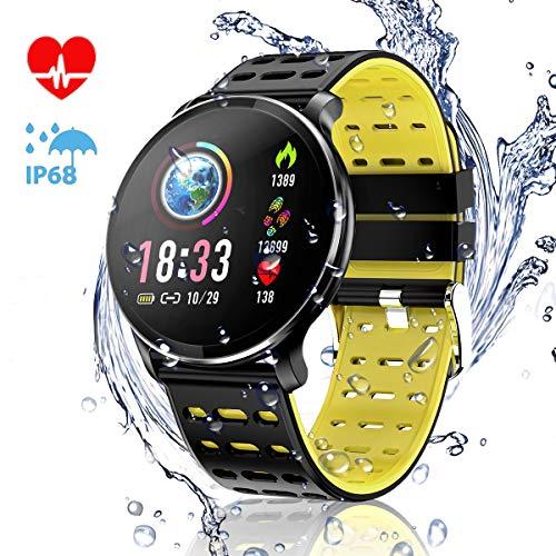 CanMixs Pulsera de Actividad Smartwatch, CM10 Pulsera Inteligente Impermeable IP68 Reloj Deportivo para Deporte, Podómetro, Monitor de Ritmo, Calorías para Android y iOS Teléfono móvil Hombres Mujeres