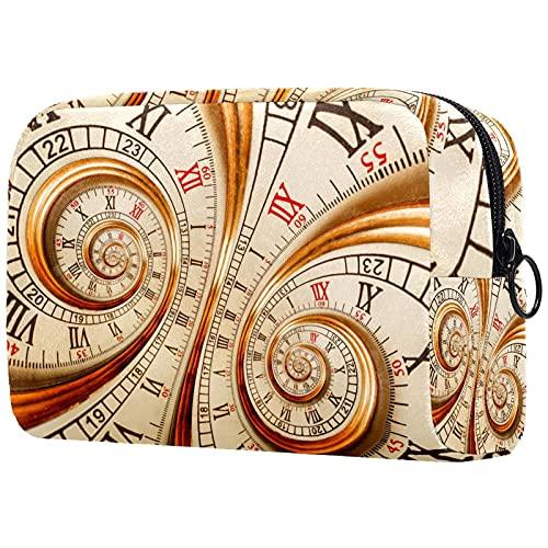 Bolsa de Maquillaje Reloj Viejo Bolsa de Almacenamiento de Maquillaje Bolsa de Viaje Maquillaje Cosmético Bolsa Multifuncional para Viajes y Viajes de Negocios 18.5x7.5x13cm