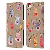 Head Case Designs Licenciado Oficialmente Ninola Renos Marrón Acuarela 3 Carcasa de Cuero Tipo Libro Compatible con Apple iPhone 6 / iPhone 6s
