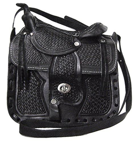 Modestone Bolsos de piel decorativos, color negro