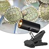 HIMABeauty Reptil Calentamiento Soporte De Luz, 360° Rotación Terrarios Portalámparas, Brillo Ajustable (Sin Bombilla),Negro