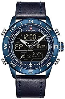Naviforce Casual Watch For Men Analog-Digital Leather - 9144
