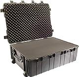 PELI 1730 Maleta de transporte técnica con ruedas para equipos electrónicos, fotográficos y audiovisuales, IP67 estanca, 167L de capacidad, fabricada en EE.UU., con espuma personalizable, color negro