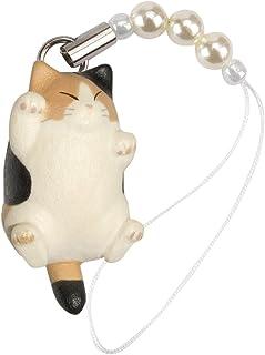 ペットラバーズ 猫どん でぶ猫 三毛 ビーズ ストラップ N-2301