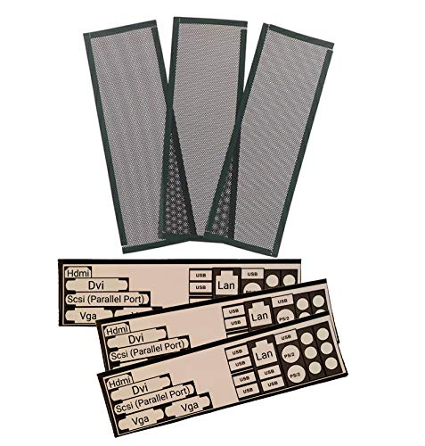 DIY Mainboard Blende 3Pcs IO-Shield Slot Blech Ersatz zum Ausschneiden Individuell für alle Mainboards ATX Itx Schöneres Design bessere Belüftung Pc Zubehör Computer