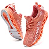 FRSHANIAH Sneakers for Men Slip On Casual Sport Running Shoes Athletic Non-Slip Jogging Tennis Walking Shoes Breathable Fashion Sneaker Gym Runner Trail Workout Shoes Pink Size 6