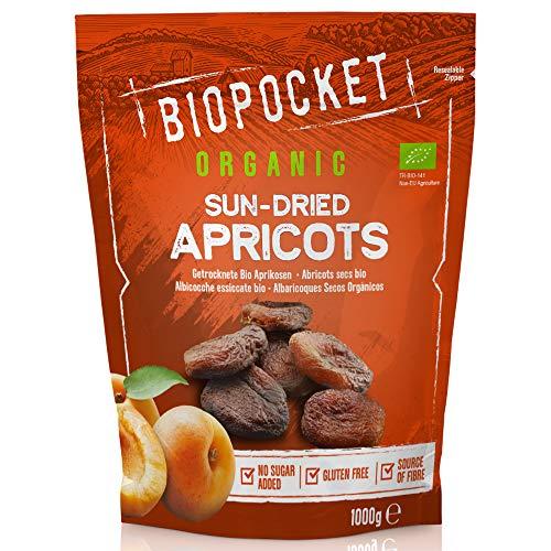 Biopocket, albicocche essiccate, 1000 g