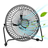 Portable USB Fan - Personal Desk Fan with 1.4m USB Cable, 6 Inch Mini Fan USB Fans for Desk, Quiet and Powerful, Perfect...