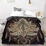 BEDSETAAA 3D Hd Printing benutzerdefinierte Bettbezug, warm und weich/Quilt/Decke Fall Königin König Bettwäsche, Bettwäsche Golden Feather 155x215cm