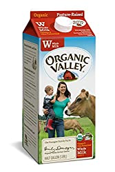 Organic Valley, Organic Whole Milk, Ultra Pasteurized, Half Gallon, 64 Ounces