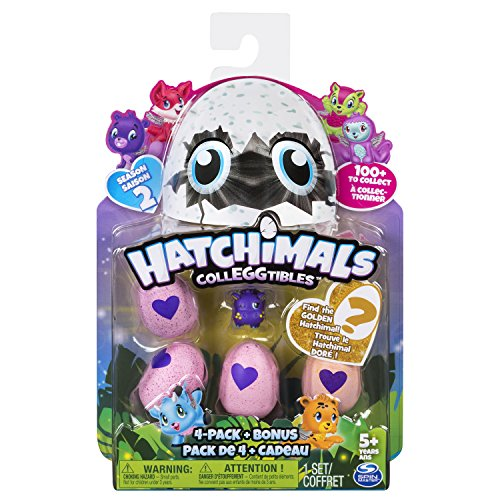 Hatchimals 6041338 'Collegtibles 4 Pack + Bonus - Kids toy figures kits, Multicolor, 177.8 x 44.5 x 228.6 mm, assorted colors