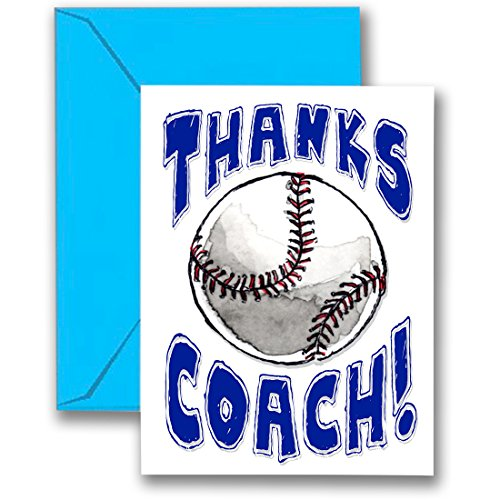 3-PackThanks Awesome Baseball Coach! Sports POWERCARD Mid-Size (5x7) 3-Pack, Play Strong !
