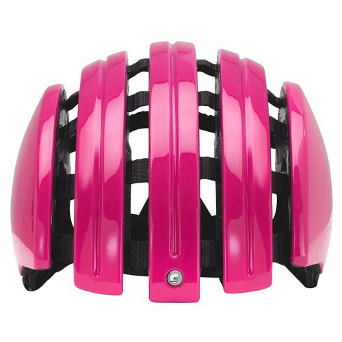 Carrera Foldable Basic Fahrradhelm, Glanzpink, 52-55