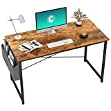 Cubiker Computer Desk 47' Home Office Writing Study Desk, Modern Simple Style Laptop Table with Storage Bag, Rustic