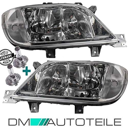 DM Autoteile Sprinter 901-905 Scheinwerfer Rechts Links 00-06 H7/H7/H3 +Nebel+Birnen