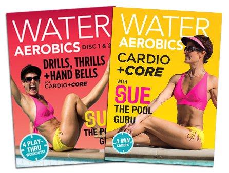 Cardio +Core Value-Pak Three DVD Disc Set: Water Aerobics w Sue, The Pool Guru
