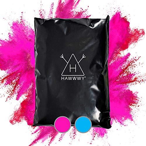 Hawwwy Colorful Powder for Gender Reveal Powder for Burnout Baby Girl Announcement Colored Tannerite Surprise Holi Unique Fun Game Motorcycle Exhaust Car Tires Truck Photography Packets Pink Incognito