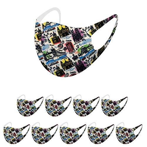 Buy Bargain Pan Hui 10PCS Kids Fashion Colorful Pattern Spot Printed Ice Silk Face Protections Safe ...