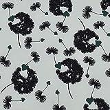 Softshell Pusteblumen, Herzen, weiß (50cm x 145cm)