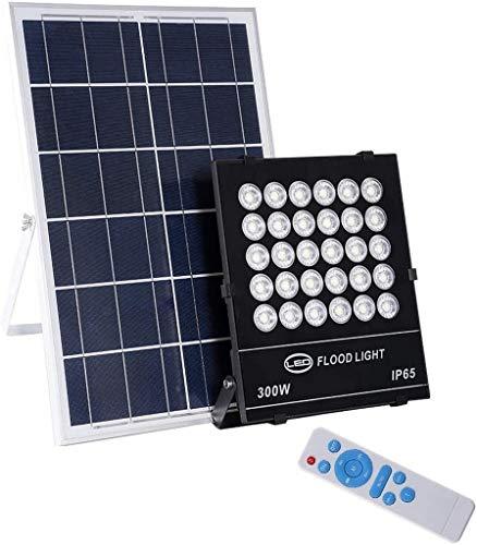 UYZ Proyector Solar LED, Impermeable al Aire Libre IP65 Proyector de jardín...