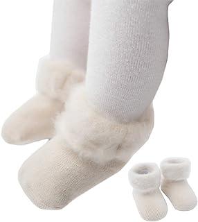 COMVIP, 3Styles - Calcetines de punto para bebé y niño pequeño, gruesos, cálidos, suaves, para invierno