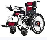 Leichtbaudoppelfunktion faltbaren elektrischer Rollstuhl (Lithium-Ionen-Batterie) mit Strom versorgt oder als manueller Rollstuhl verwendet,White -