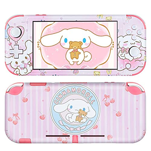 DLseego Switch Lite Skin Sticker Pretty Cute Pattern Full Wrap Skin Protective Film Sticker Compatible with Nintendo Switch Lite--Pink