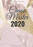 Chaos Master 2020: Luxus A4 Kalender gold, tolles Geschenk mit 150 Seiten, mehr Klarheit, Termine, Lieblingstage, Kontakte, Notizen, Urlaub, Jahresübersicht