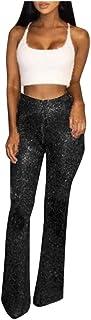 Pantalones Mujer Anchos,Paquete Atractivo De Las Mujeres Hip Stretch Crochet Flare Pants Pantalones Casuales