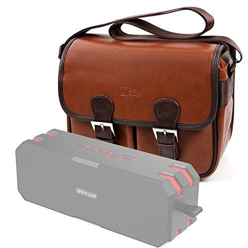 DURAGADGET Bolsa Profesional marrón con Compartimentos para Altavoz Portátil Wirezoll inalámbricos Impermeable,...