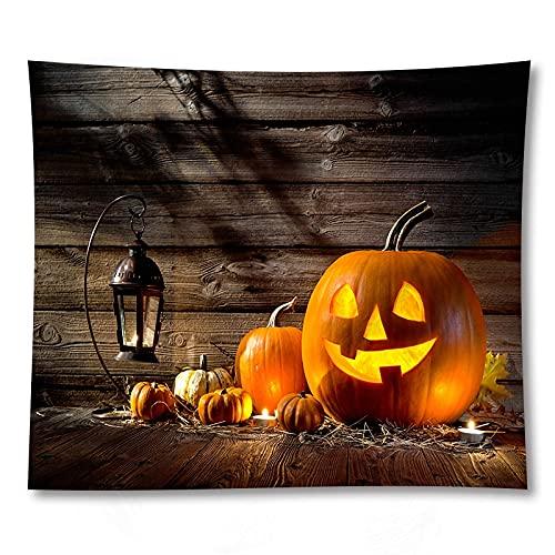 PPOU Calabaza de Halloween Creativo Tapiz Colgante de Pared Tela de decoración decoración de la Pared del hogar Tapiz de Tela de Fondo A8 73x95cm