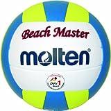 Molten Beachvolleyball MBVBM BeachMaster, Weiss/GELB/BLAU, 5