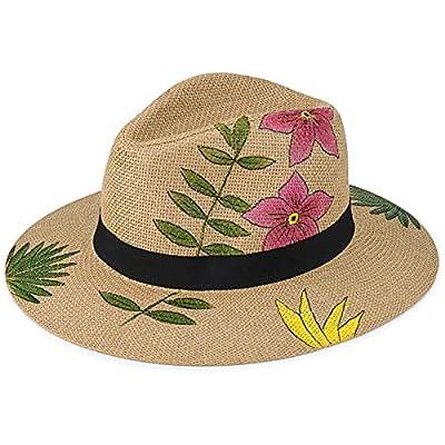Amazon - 50% Off on Hand Painted Straw Hat for Women Beach Hats Summer Sun Panama