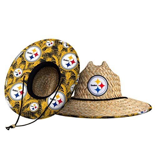 Pittsburgh Steelers NFL Floral Straw Hat