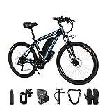Bicicleta eléctrica, 500W Bicicleta Eléctrica de Montaña Ciclomotor 26' Ebike para Adulto, 48V Batería de Litio-Ion, 21 Velocidades, 3 Modos de Arranque con Pantalla multifunción LCD