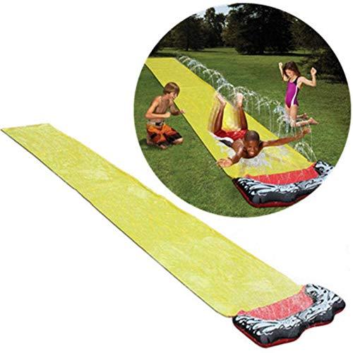 MRSDBTL Backyard Water Slide For Kids Adults, Garden Racing Single Water Slides Mat, Inflatable Surfboard, Summer Spray Water Toys, Outdoor Grass Game