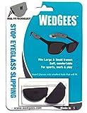 Wedgees Eyeglass Retainer Black Molded Dual Fit. (2 Packs)