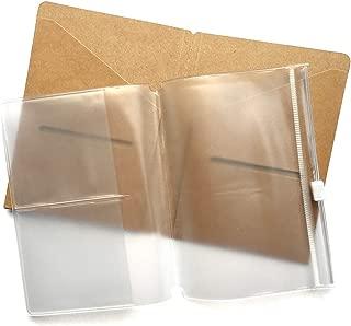 Kraft File Folder + Zipper Pouch Refill Pack for Pocket Passport Travelers Notebook 5