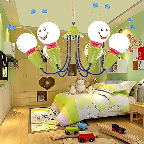 ZQYY 40W Moderne Lustre de Chambre d'enfants, Pièce lumières suspendues Cartoon Cute Little Bee Ampoule E27 Support de Lampe en Céramique Fille Garçon Chambre Luminaire,40w6bulbs750cm
