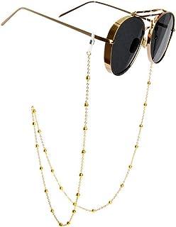 Neue Kupfer String Sonnenbrillen Lanyard Strap Halskette Metall Brillenkette