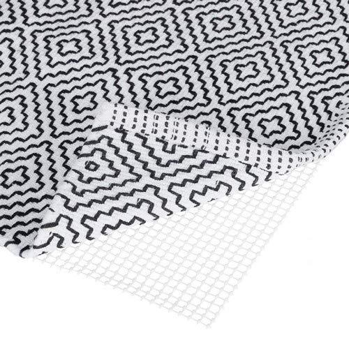 Relaxdays Antirutschmatte für Teppich, zuschneidbare Rutschmatte, Teppichunterlage, Rutschschutz, BxT: 120x180 cm, weiß, 120 x 180 cm